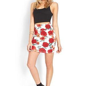 Forever 21 Rambling Rose BodyCon Skirt